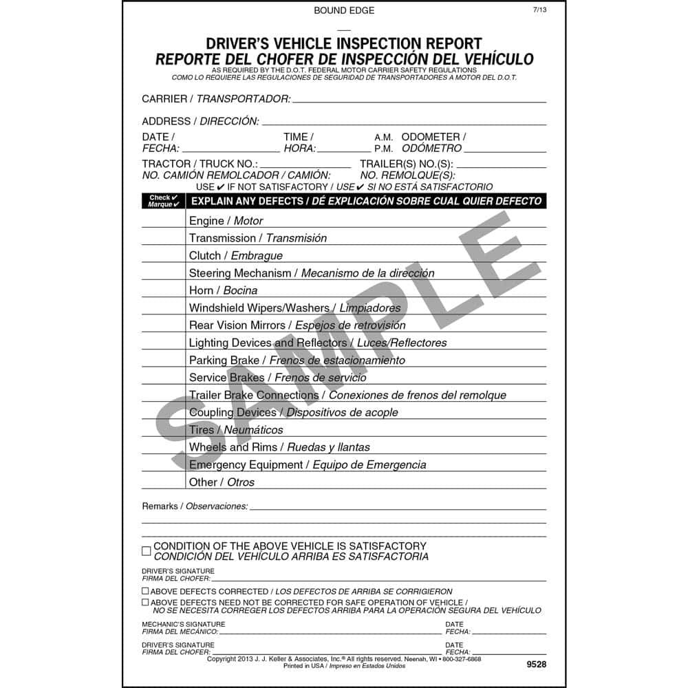 Vehicle Inspection Report Form Alberta And Daily Vehicle Inspection Report Template Ontario