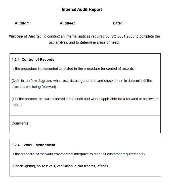 Audit Report Example Public Company And IT Audit Findings And Recommendations