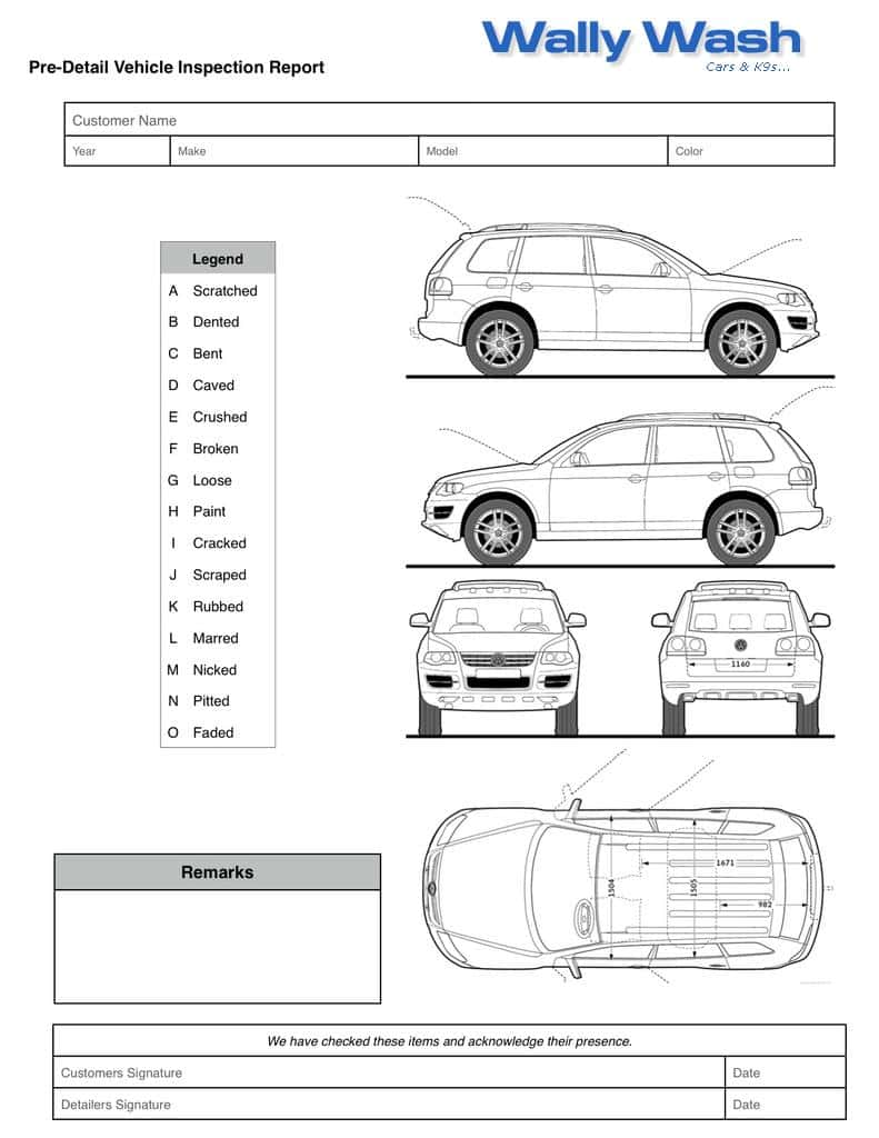 Daily Vehicle Inspection Form Template And Daily Vehicle Inspection Report