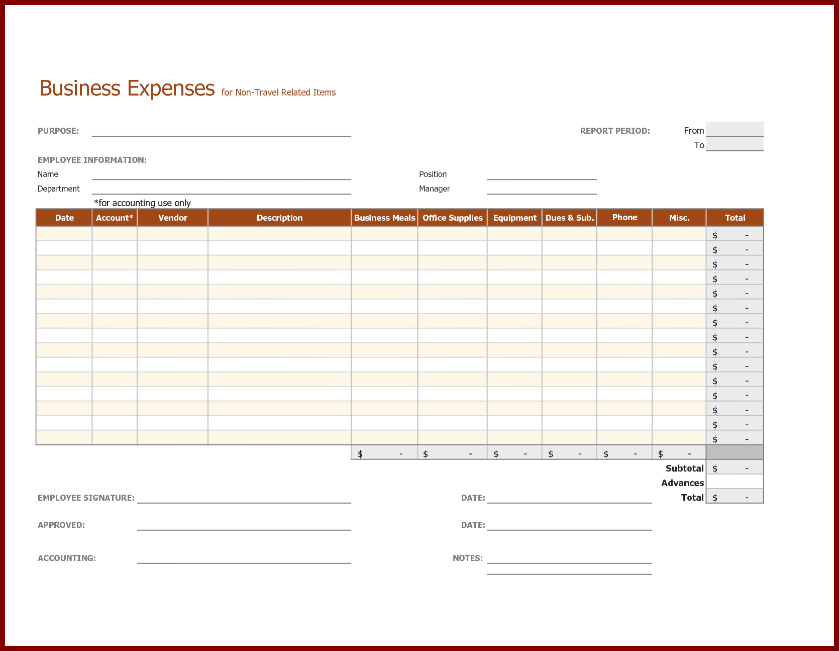 Free Business Travel Expense Report Template And Travel And Business Expense Report Rutgers