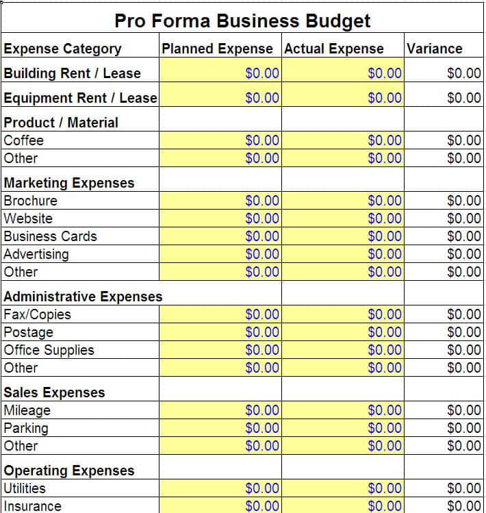 Monthly Business Expense Template And Business Expense Spreadsheet Template Free
