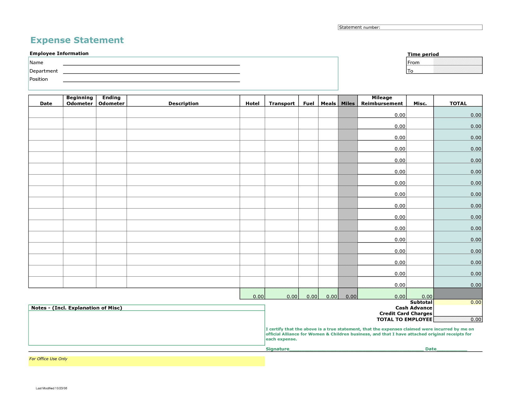 Sample Monthly Expense Form And Sample Expense Claim Form Excel