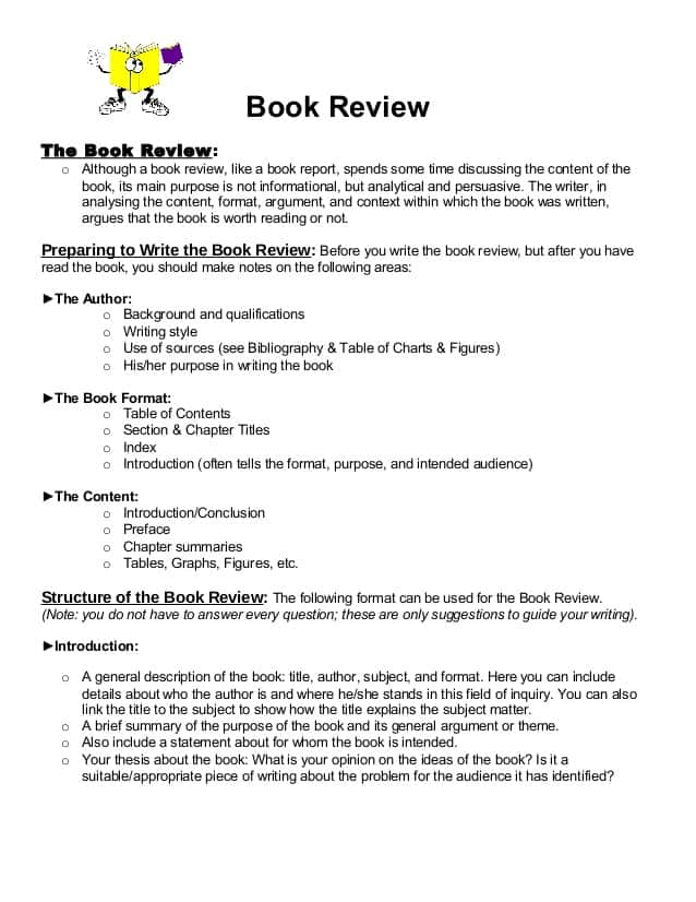Sample Of Book Report Of Short Story And Book Report In English Format