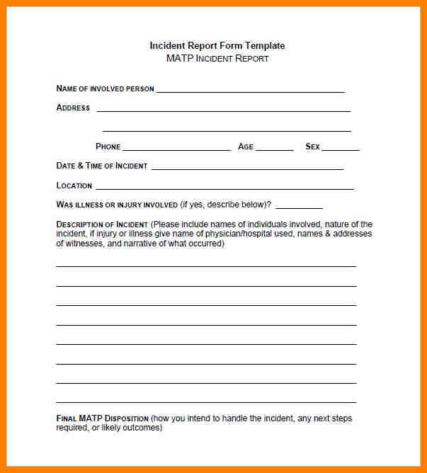 Security Guard Report Template Pdf And Security Guard Incident Report Example