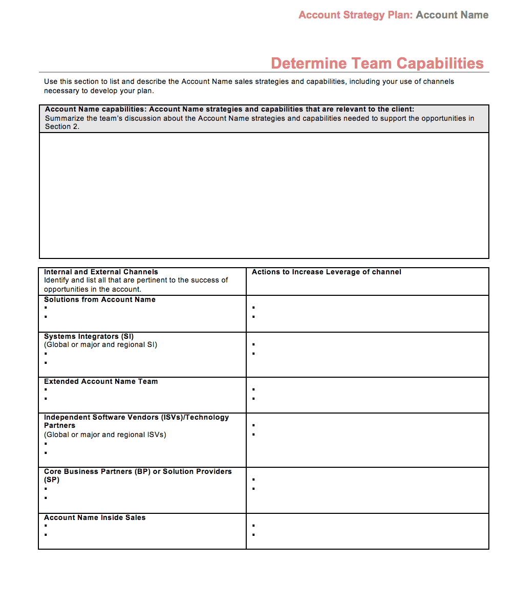 Simple Strategic Plan Template And Strategic Report Example