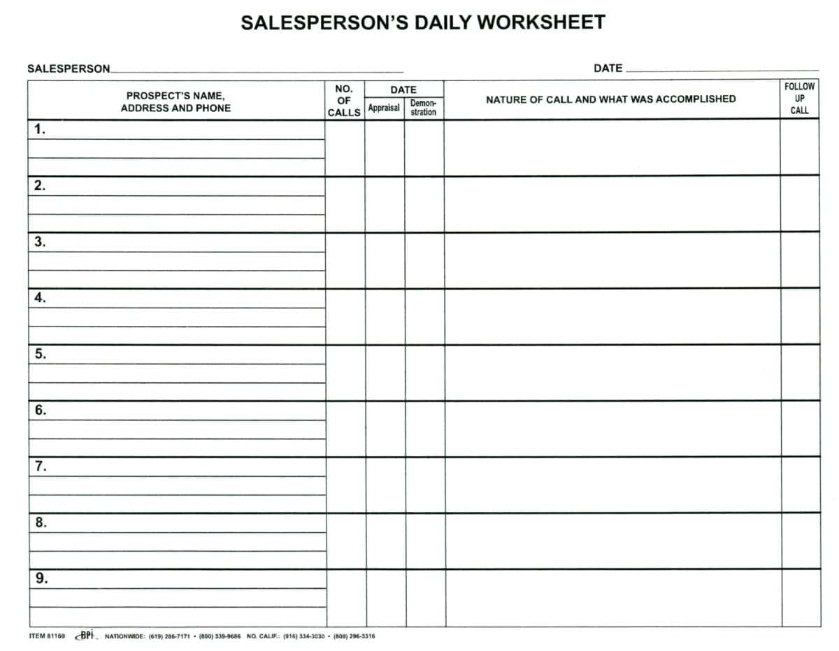 Commission And Sales Tax Worksheet And Sales Commission Statement