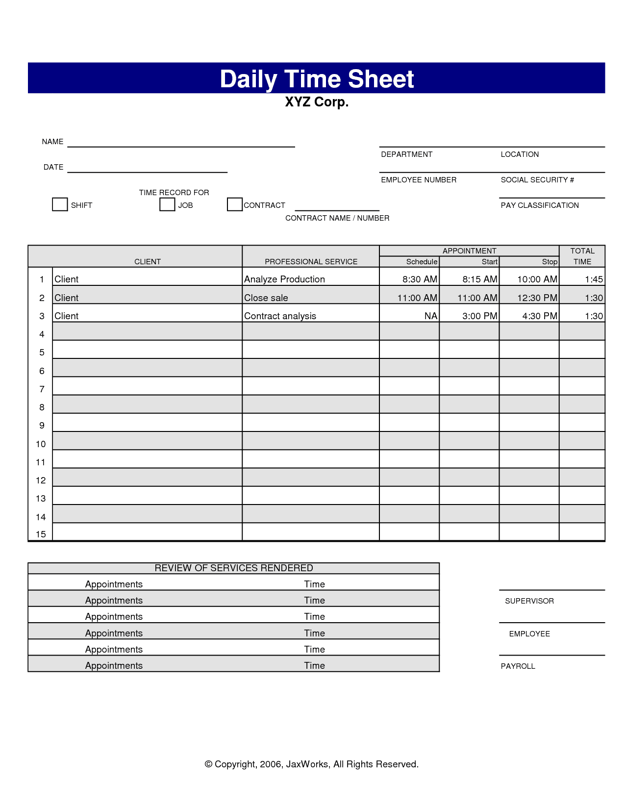Construction Time Sheets Template And Construction Time Sheets Pdf