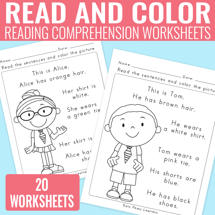 English Comprehension Worksheets For Grade 1 Free And First Grade Reading Worksheets