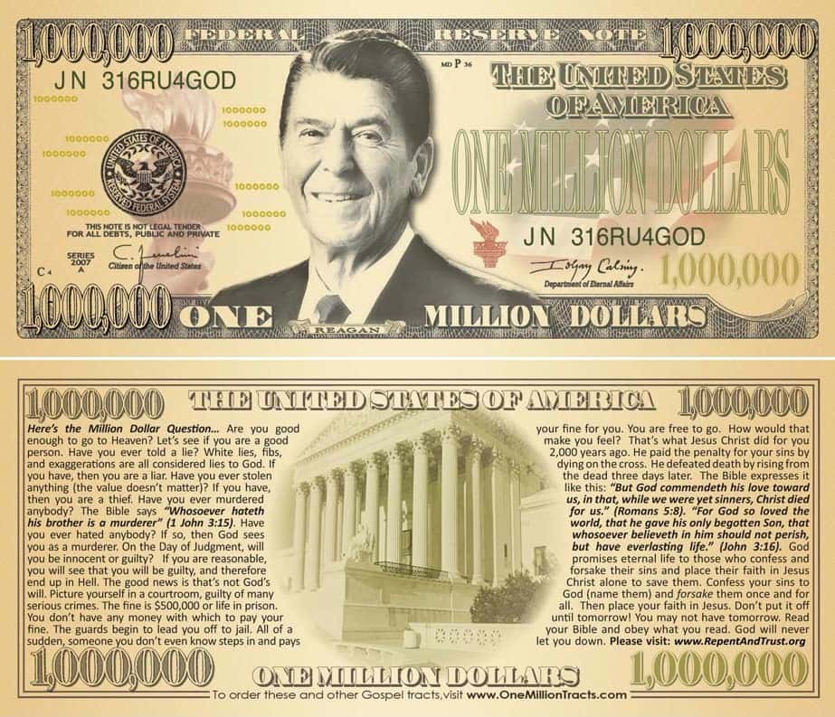 Fake Million Dollar Bill Template