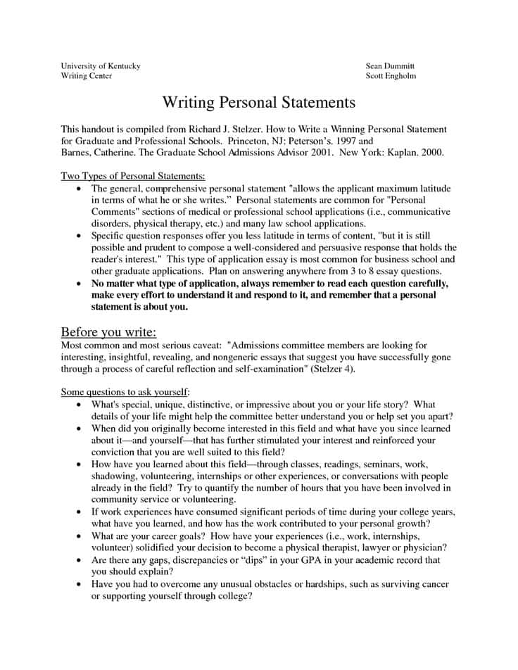 Free Sample Personal Statement For Law School And Sample Personal Statement For Graduate Law School