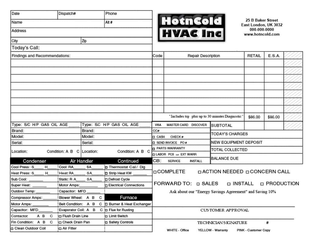 HVAC Invoice Template And Best HVAC Estimating Software