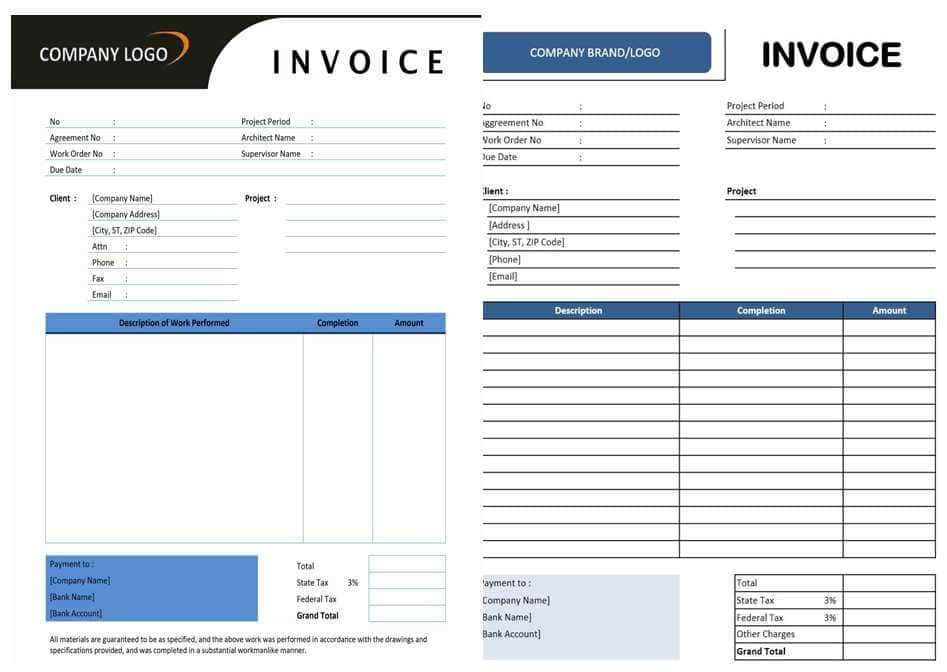 Independent Contractor Invoices Templates And Contractor Invoice Template Free Download