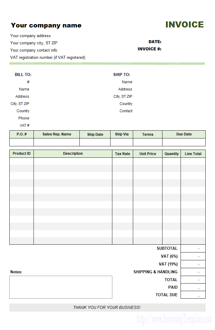 Online Invoices Free Template Uk And Free Online Bill Organizer Template