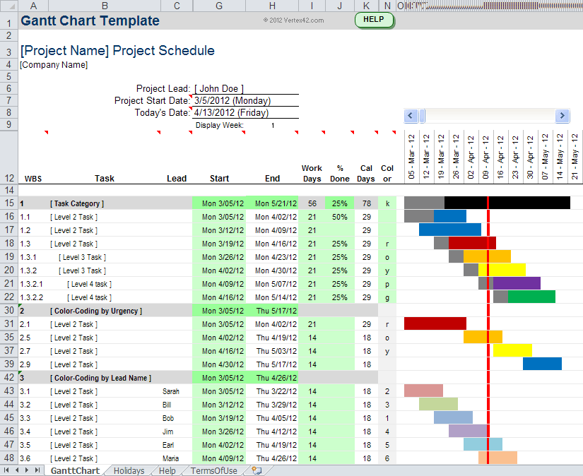 Simple Gantt Chart Excel Template Free Download And Project Excel Gantt Chart Template Free Download