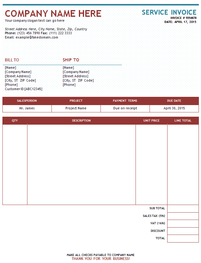 Trucking Invoice Template Excel And Transport Bilty Sample