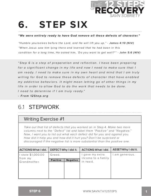 12 Step Worksheets For AA And 12 Step Workbook Download