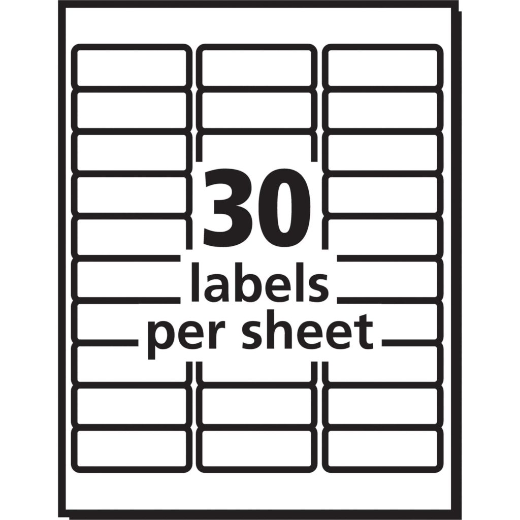 52 labels per sheet template