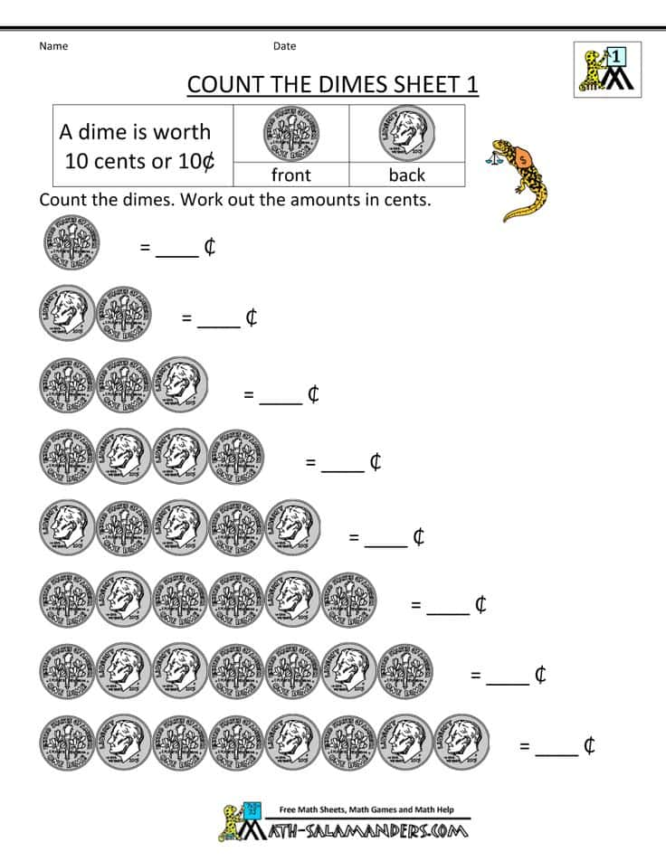 Coin Value Identification Worksheets And Coin Value Worksheets Kindergarten