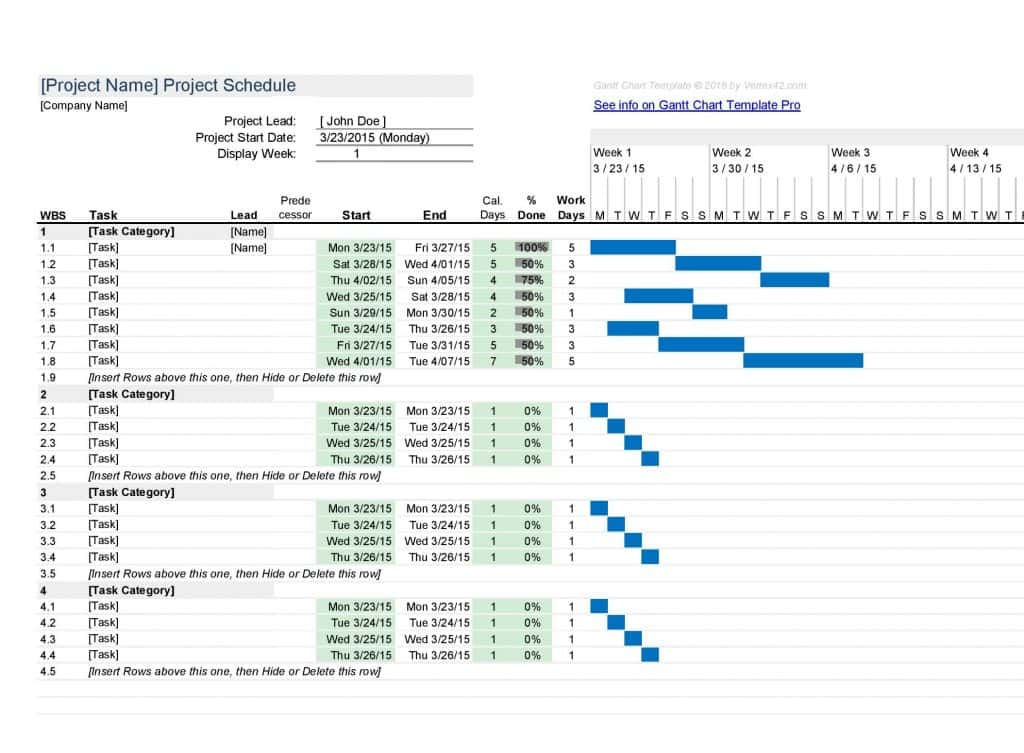 Excel Gantt Chart Template Download And Excel Free Gantt Chart Template Xls