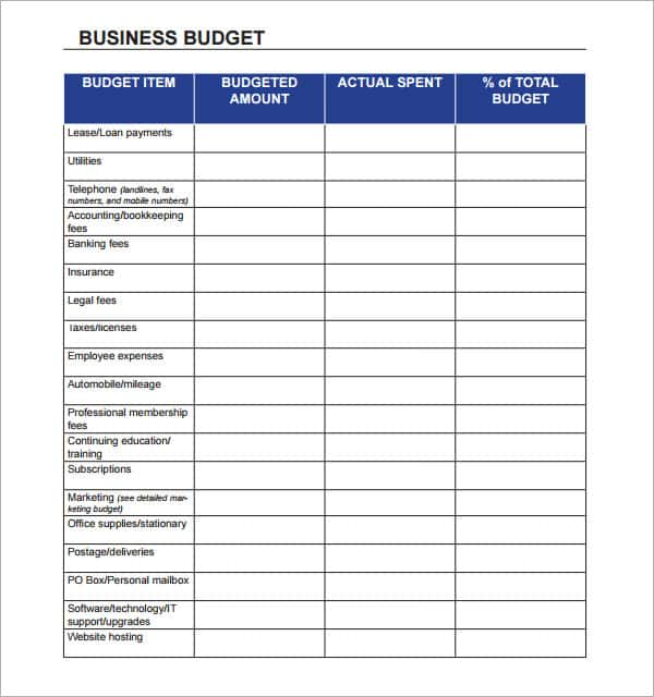 Expenses Spreadsheet Template For Small Business And Free Monthly Expenses Sheet Template