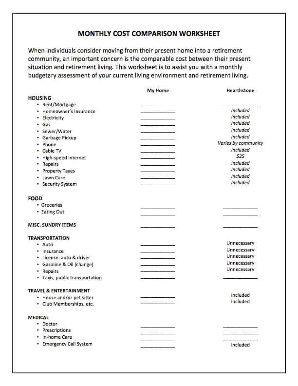 Free Retirement Planning Worksheet And Retirement Financial Planning