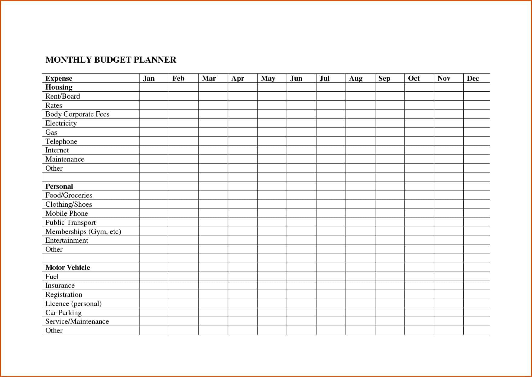 Monthly Bill Pay Template Free And Free Printable Monthly Bill Payment Log