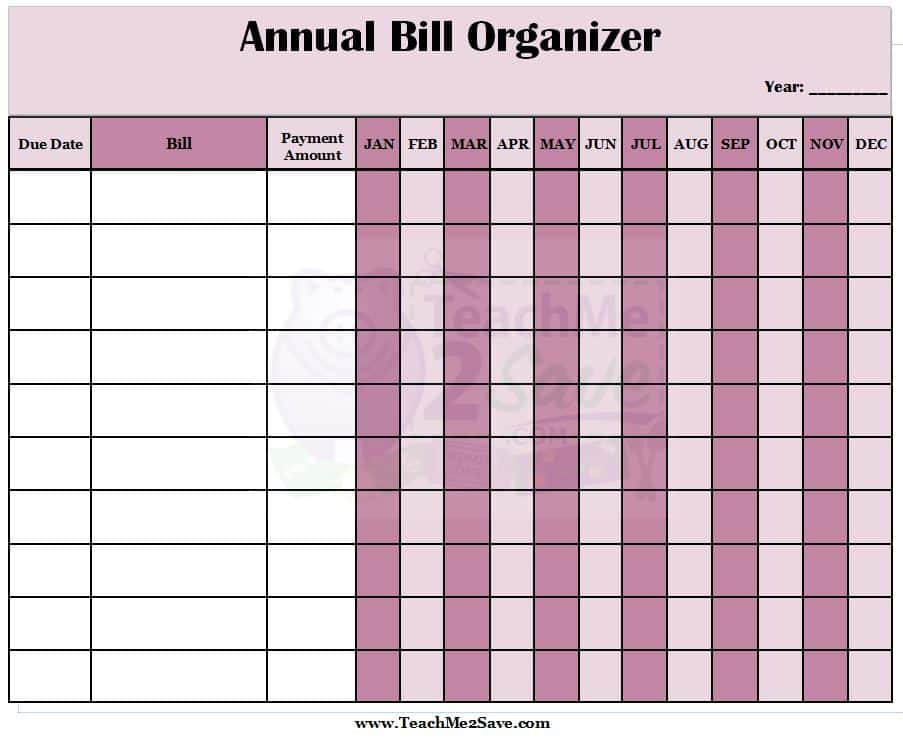 Monthly Expenses Template Free And Monthly Bill Payment Template Free