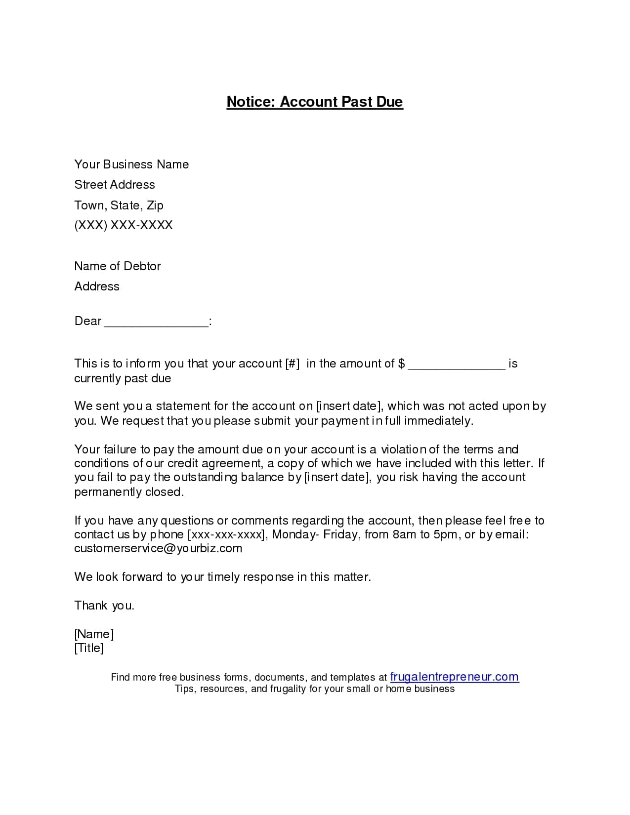Past Due Invoice Email Template And Past Due Email Template