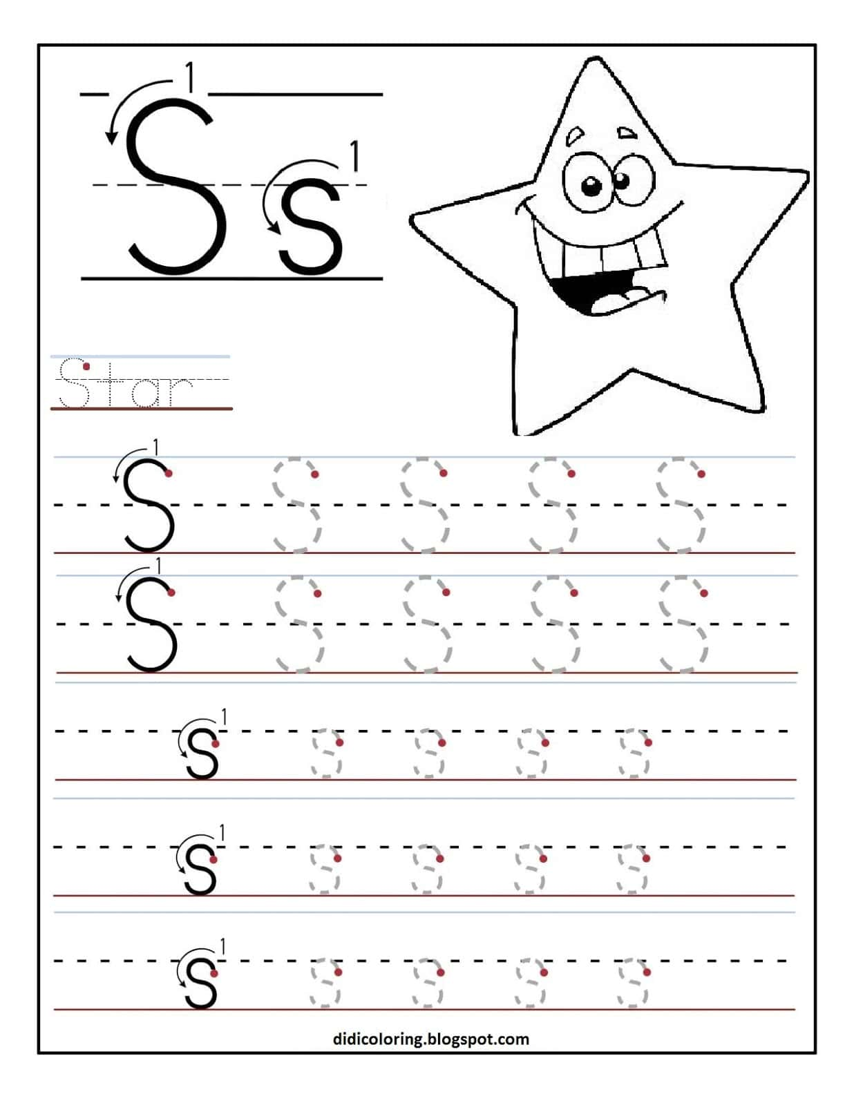 Printable Kindergarten Worksheets And English Handwriting Practice