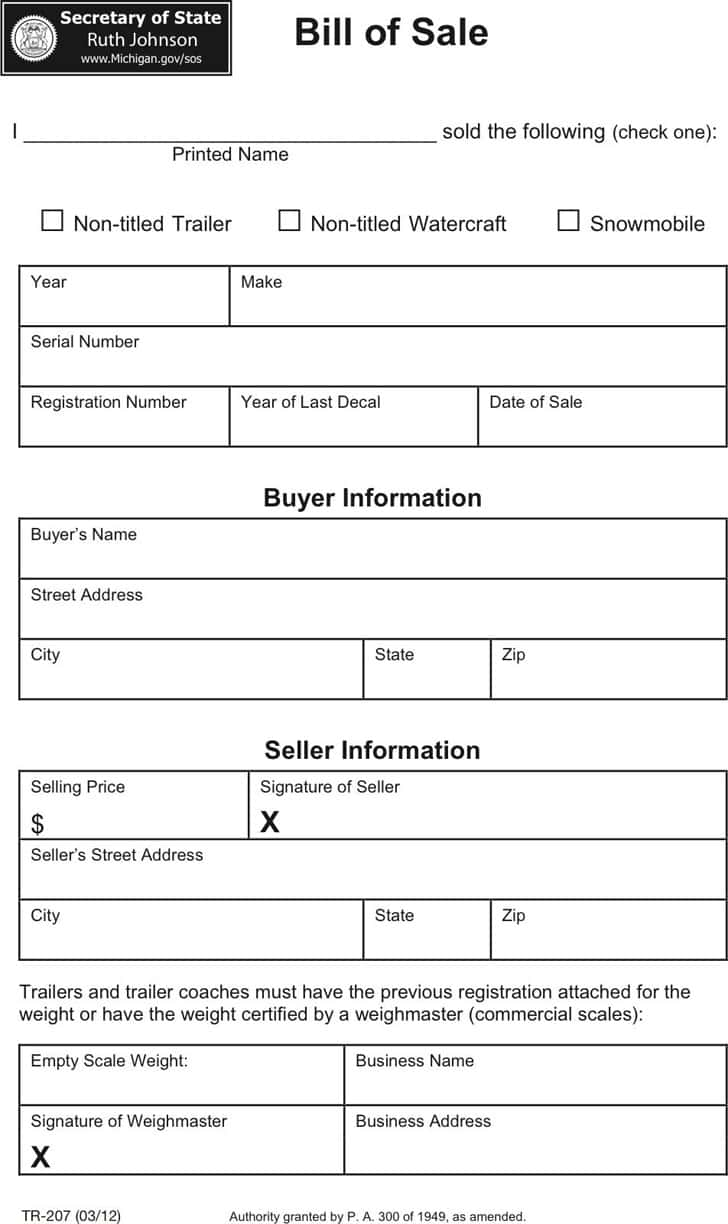 Automobile Bill Of Sale Template Colorado And Colorado Bill Of Sale Personal Property