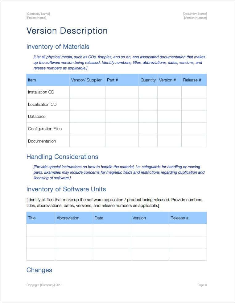 Bill Of Materials Template And Free Bill Of Materials Template Download