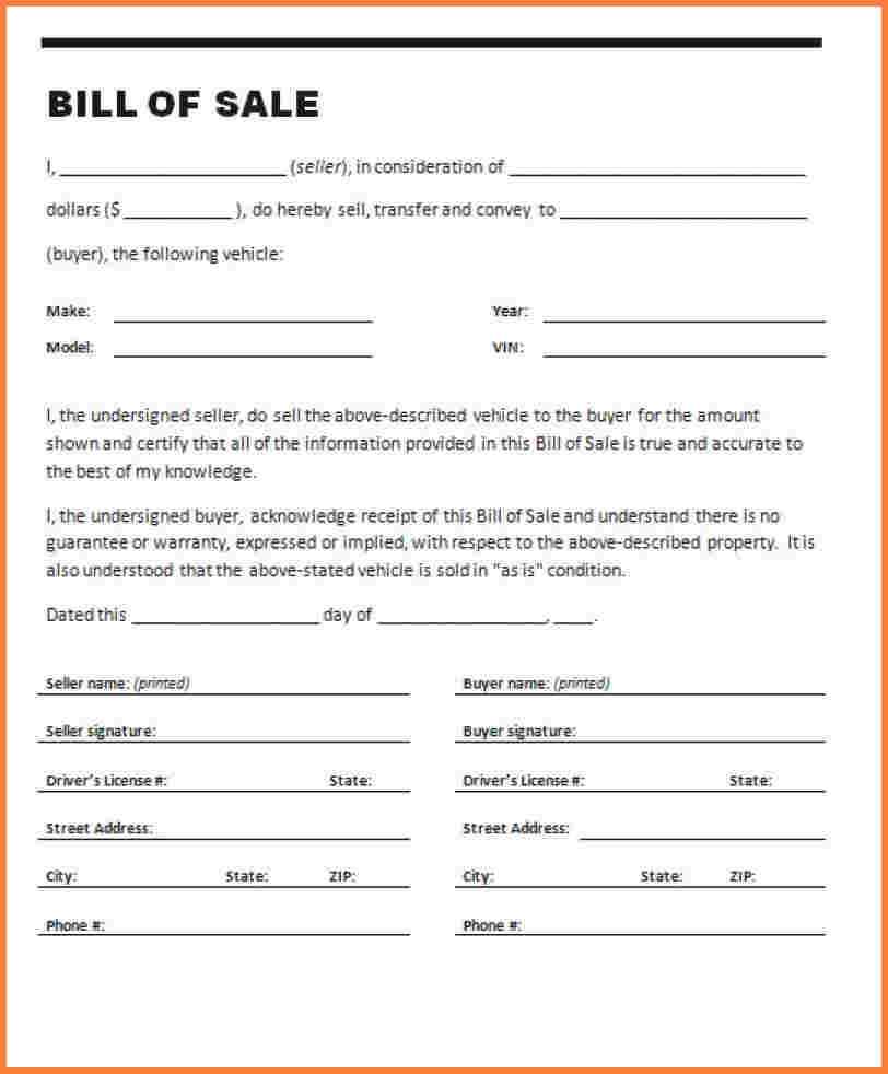 Bill Of Sale Of Business Template And Bill Of Sale For Business Assets