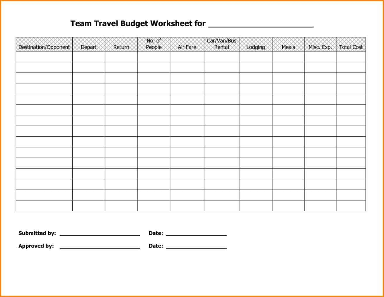 Budget Worksheet Pdf And Budgeting Worksheets For Kids Free