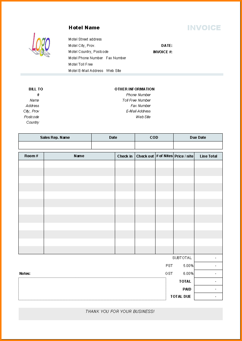 Cash Receipt Format In Word And Cash Invoice Template