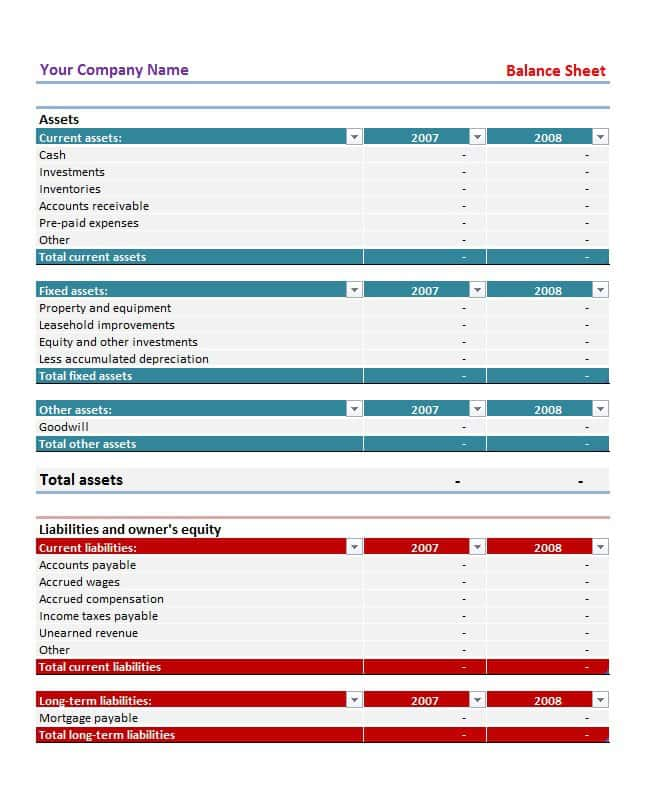 Download Balance Sheet Template Excel And Excel Balance Sheet Template Software Download