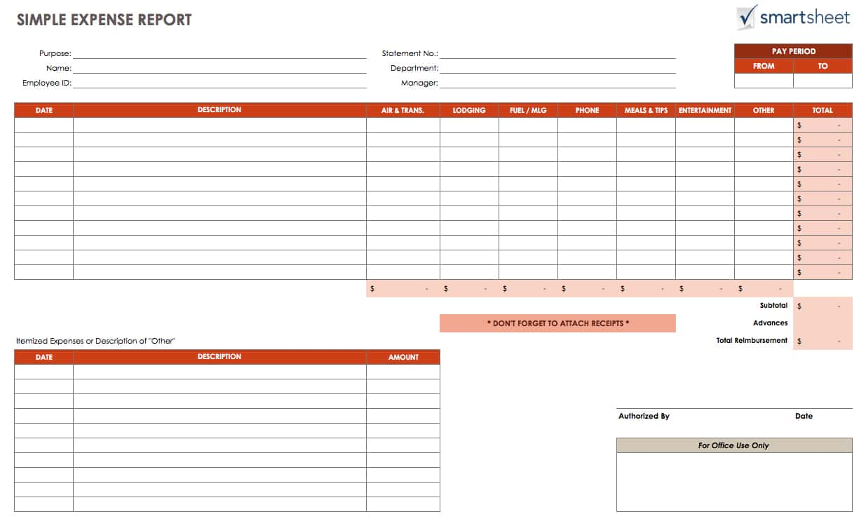 Event Budget Planner And Business Expense Report Template Free