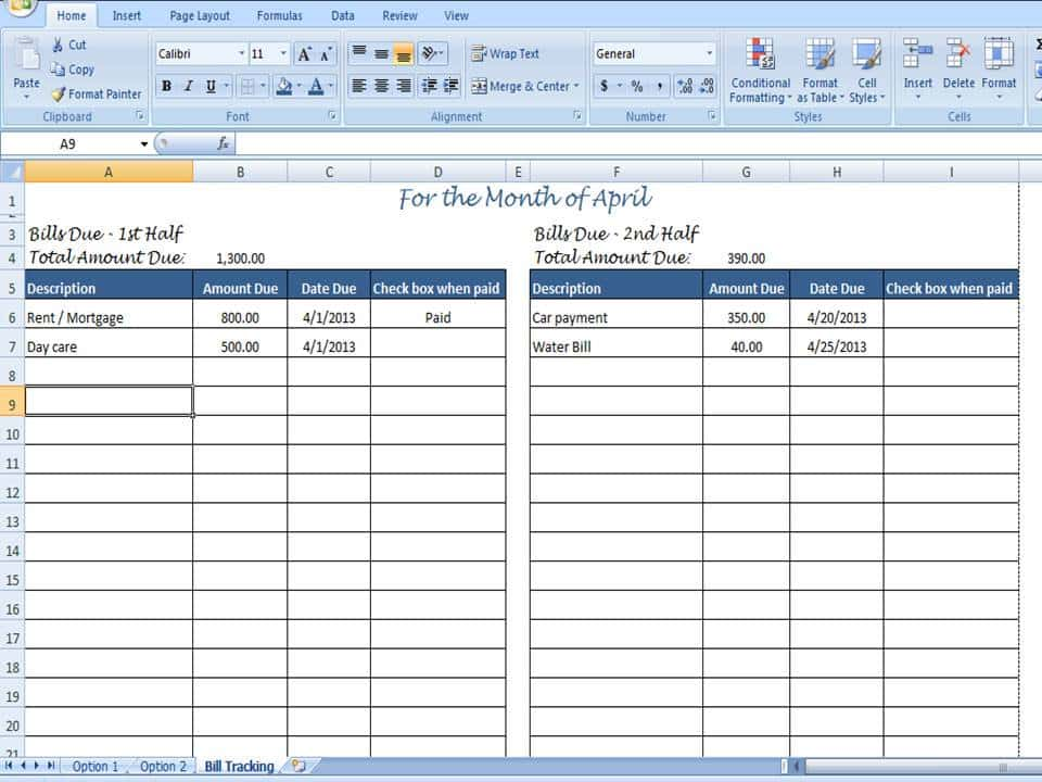 Free Printable Monthly Bill Payment Log And Simple Budget Template Excel Free