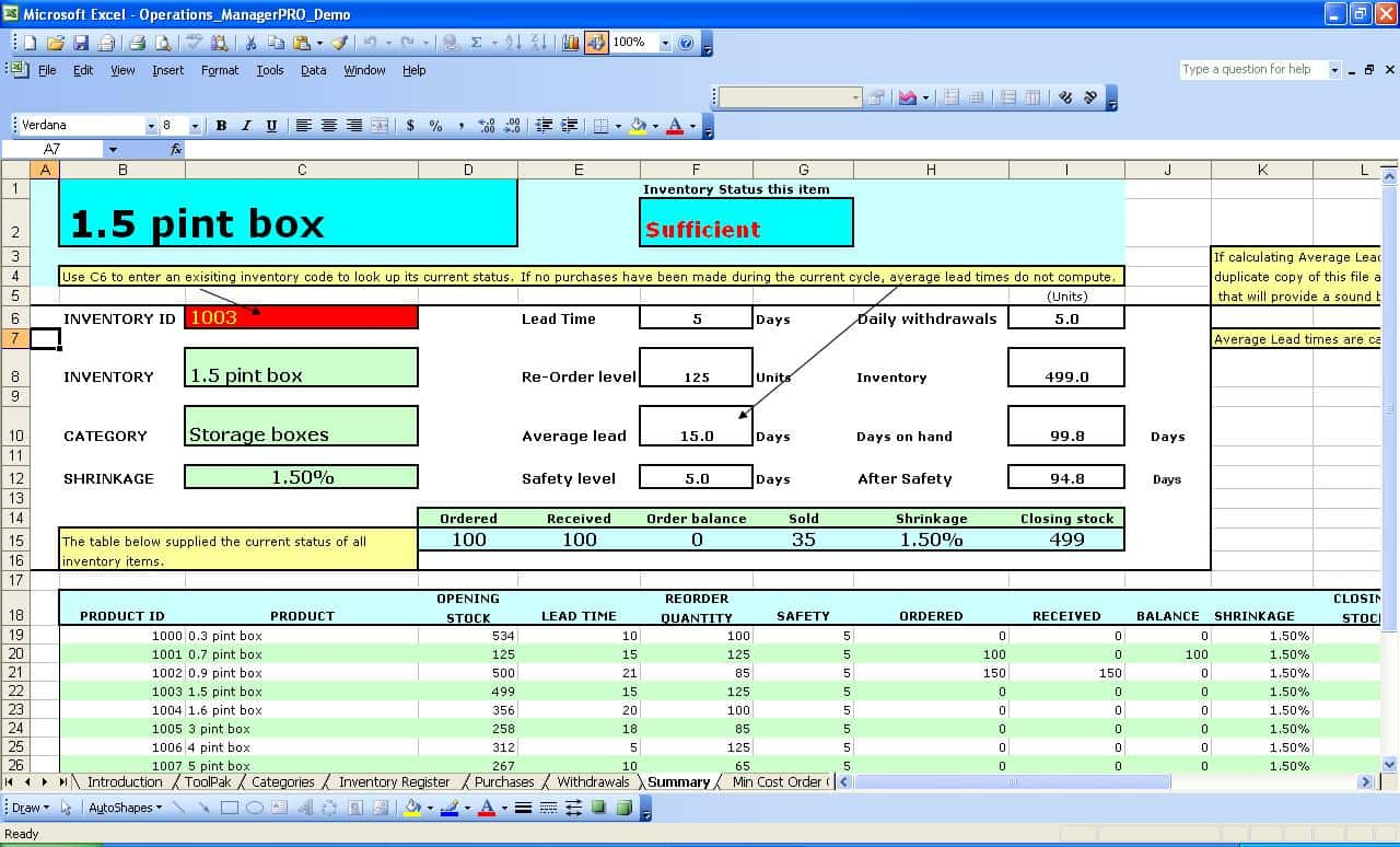 Inventory Control Template With Count Sheet And Excel Asset Tracking Template