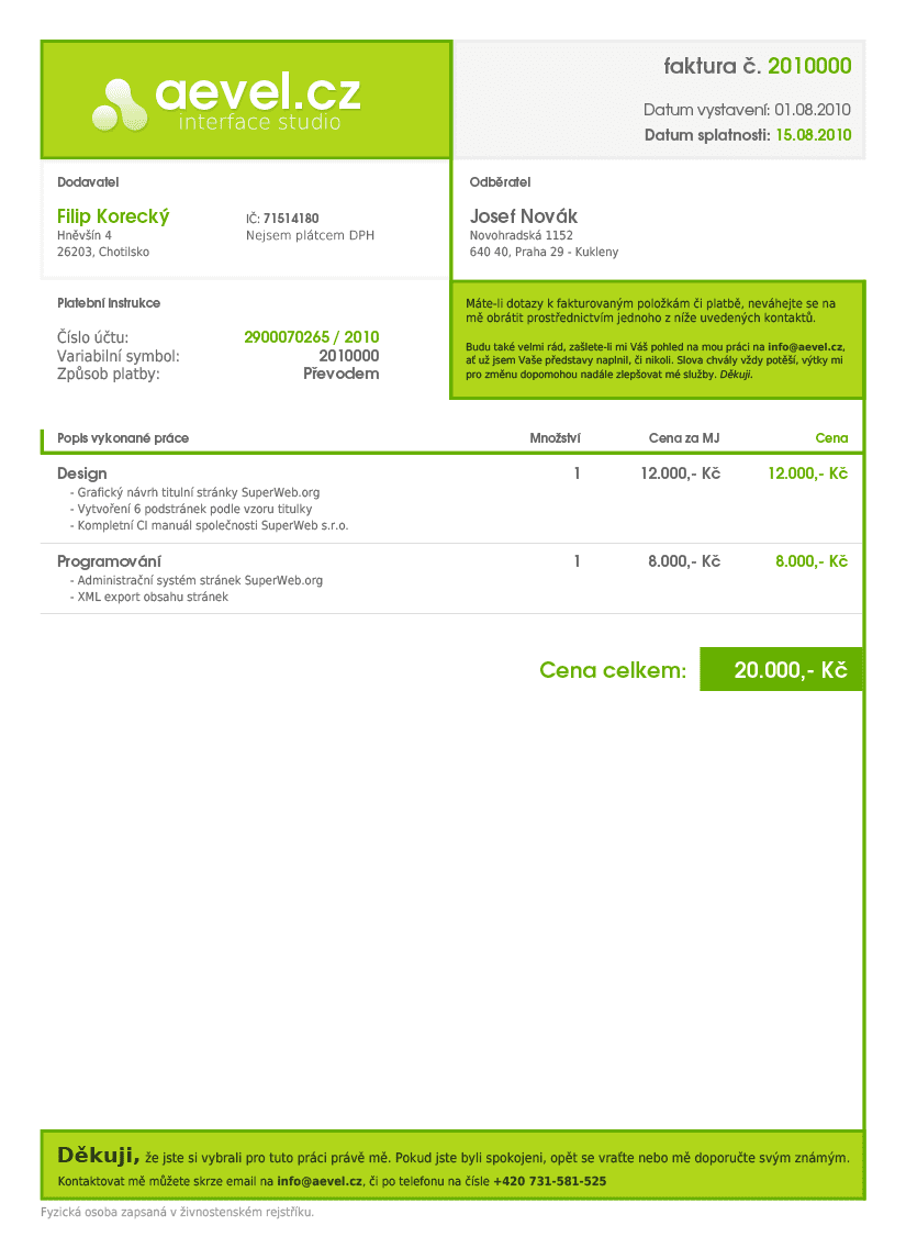 Sample Invoice For Web Design And Invoice Template Design Psd