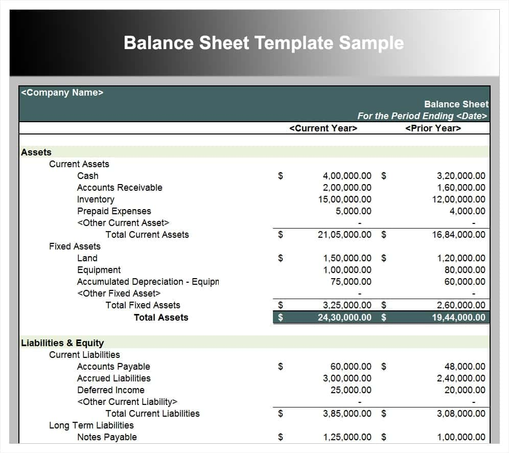 Trial Balance Sheet Template Download And Balance Sheet Template Word
