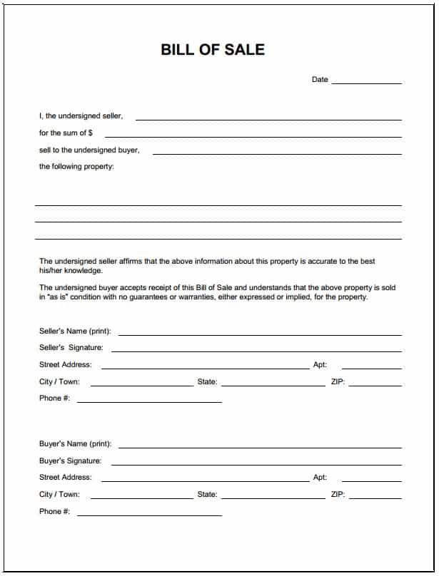 Bill Of Sale For Motorcycle Template And Motorcycle Bill Of Sale Template California