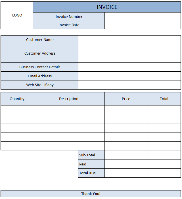 Bookkeeping Invoice Example And Sales Invoice Template Pdf