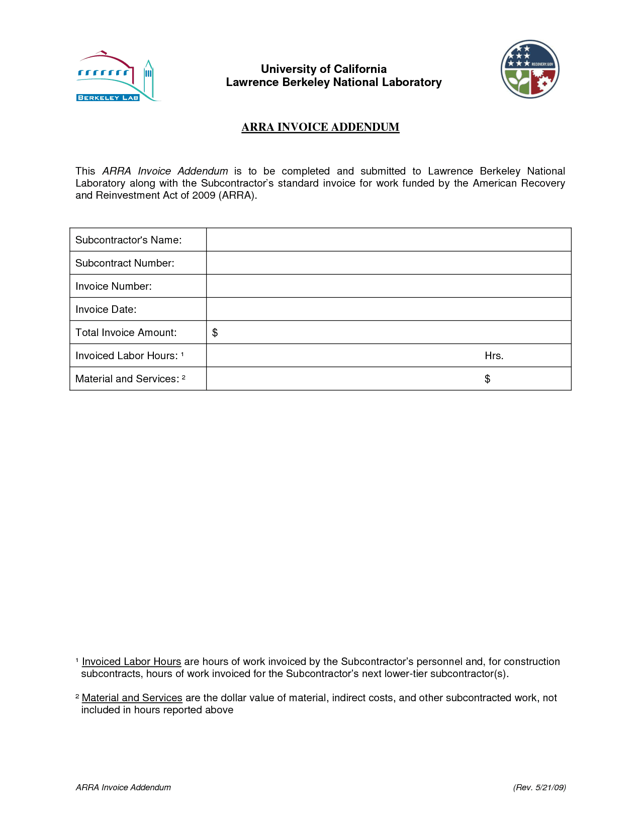 Contractor Invoice Template And Small Invoice Template