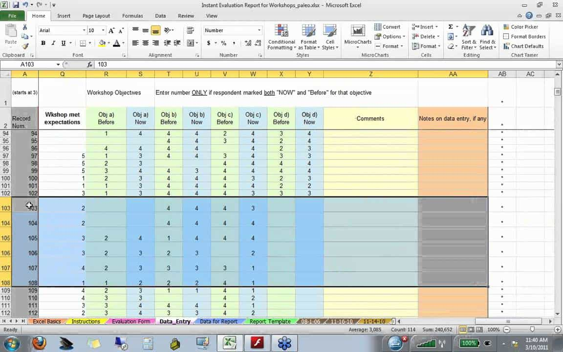 Excel Template For Survey Analysis And Excel Survey Data Analysis