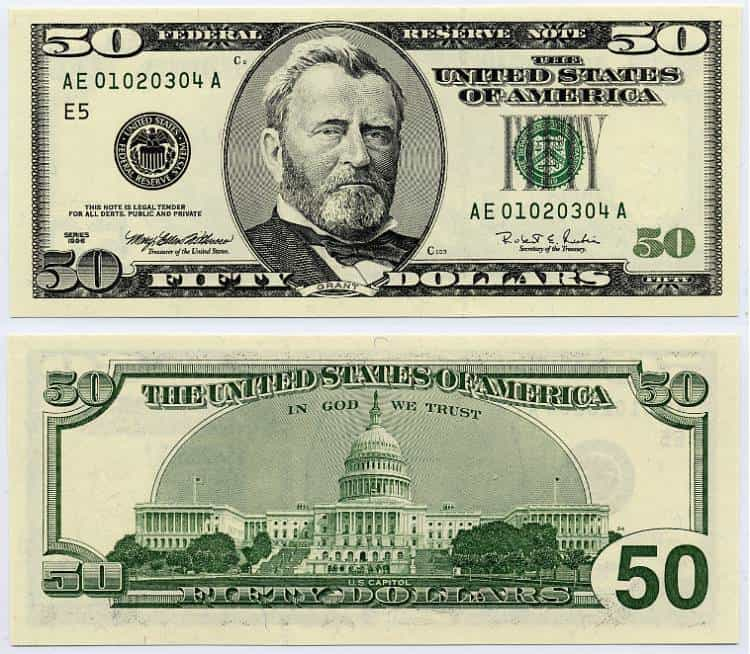 Fake 1 Dollar Bill Printable And 1000 Dollar Bill Template