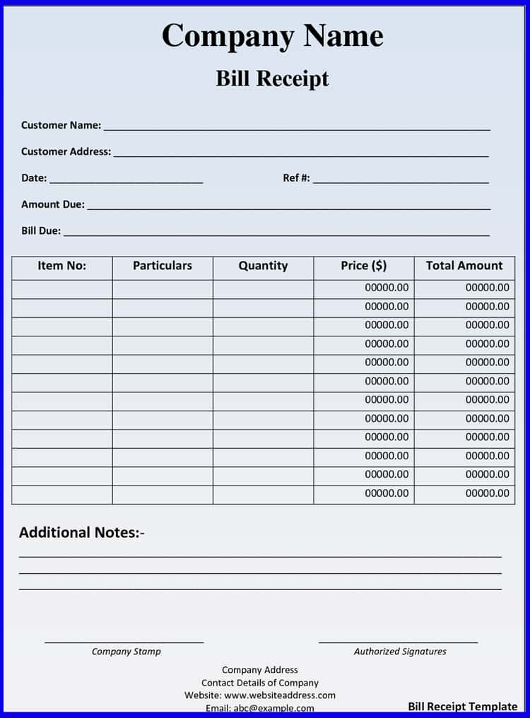 Hotel Invoice Template Word And Free Hotel Bill Template