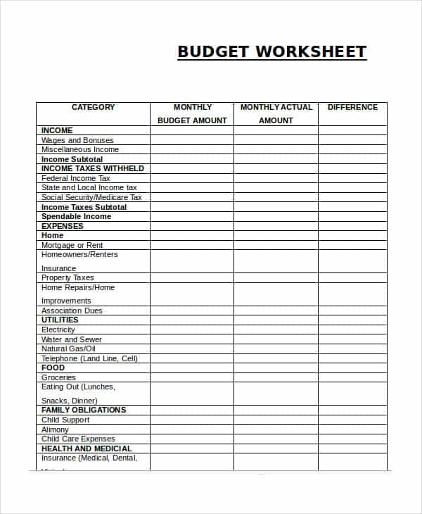 Household Budget Spreadsheet Templates And Household Budget Template Pie Chart