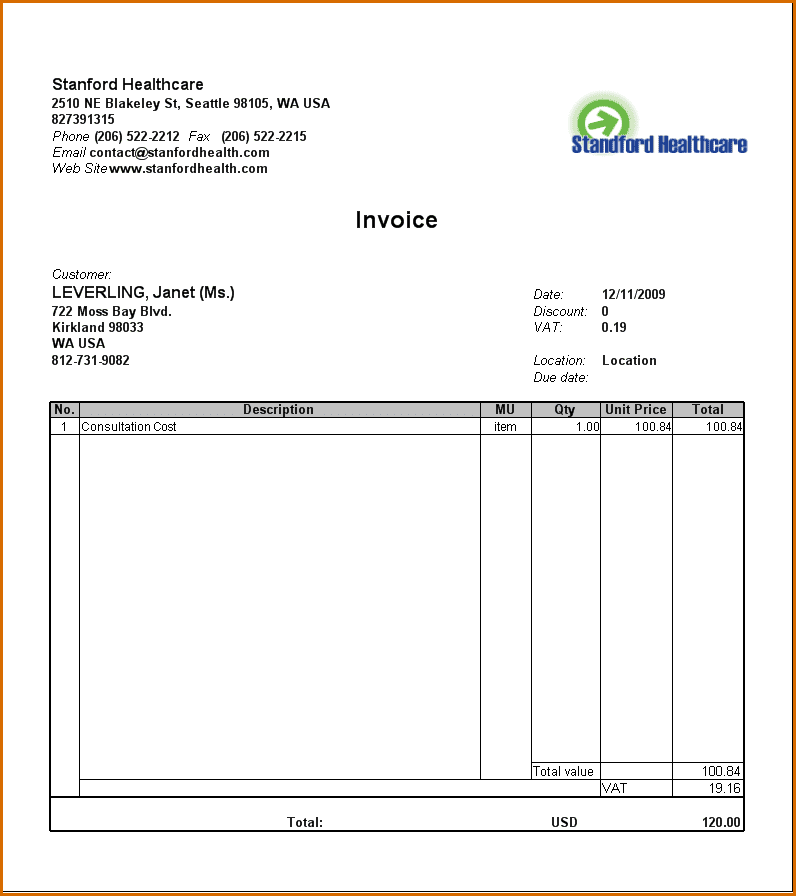 Medical Bill Settlement Letter Template And Medical Invoice Template Word