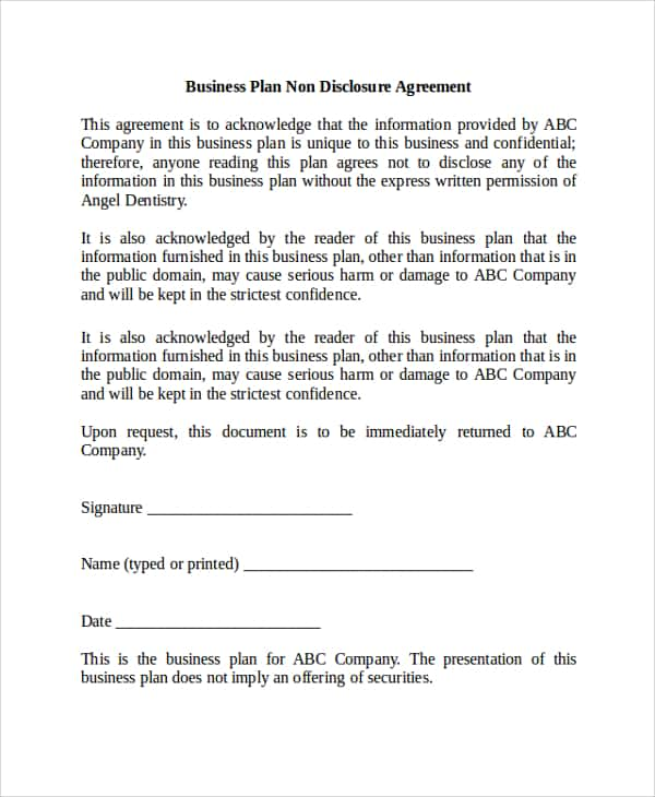 Non Disclosure Agreement Template Download And Non Disclosure Agreement Template Word