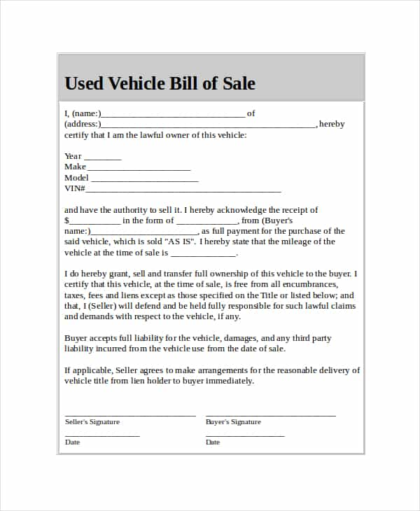 Writing Up A Bill Of Sale For A Car And How To Write A Bill Of Sale For A Car In Massachusetts
